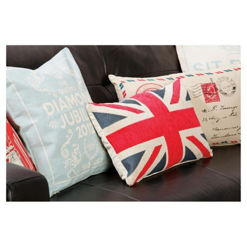 buy tesco union jack cushion red blue from our cushions. Black Bedroom Furniture Sets. Home Design Ideas