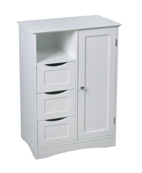 Buy new hampshire double space cabinet white from our for Bathroom cabinets tesco