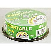 Fujifilm CD-R 700MB 52X Spindle of 25 - Printable Inkjet