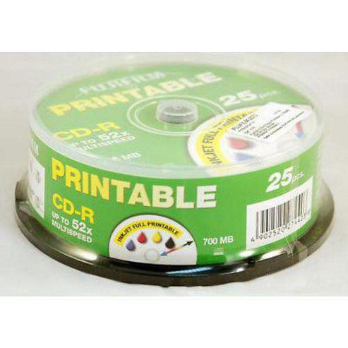 Fujifilm 25PK Inkjet 700MB 52X CD-R Spindle