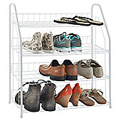 VonHaus 4 Tier Wire Shoe Rack