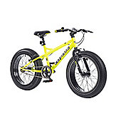 "2015 Coyote Fatman Fat Bike 20"" x 4"" Neon Yellow/Matt Black"