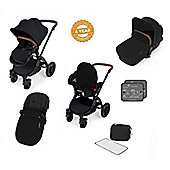 ickle Bubba V2 Stomp AIO Travel System with Mosquito Net - Black (Black Chassis)