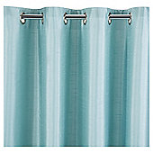 Tesco Faux Silk Lined Eyelet Curtain 64x90'' - Eau De Nil