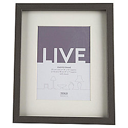 "Tesco Basic Photo Frame Grey 8 x 10""/5 x 7""with Mount"