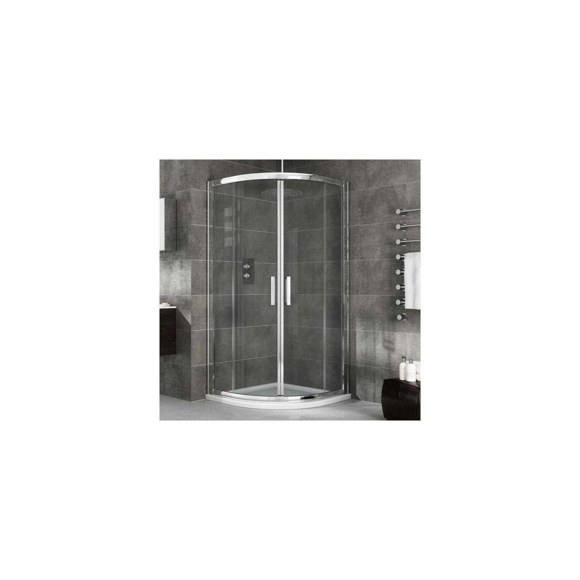 Elemis Eternity Two-Door Quadrant Shower Door, 900mm x 900mm, 8mm Glass at Tescos Direct