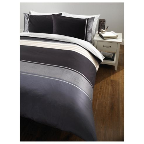 Tesco Cosmo Single Duvet Set, Black