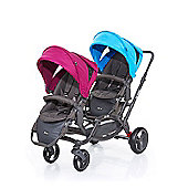 ABC Design Zoom Tandem Twin Stroller - Water/Grape (2016)
