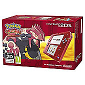 Red Skeleton 2DS Console and Pokemon Omega Ruby