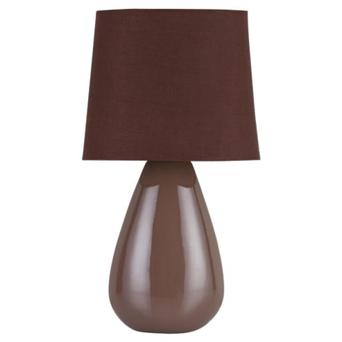 Tesco Lighting Chloe Ceramic Table Lamp Mocha