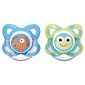 Tommee Tippee 6-12 months Funky Face Soothers x2