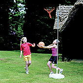 Harrod Netball Stand Set, Rust-proof Post, Ring, Net & Plastic Base Set