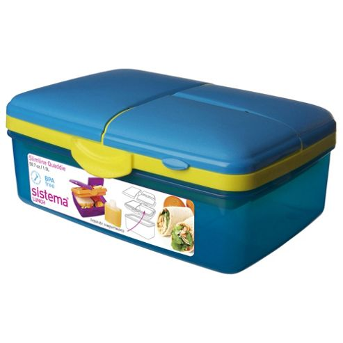 buy sistema quaddie blue lunch box from our food storage. Black Bedroom Furniture Sets. Home Design Ideas