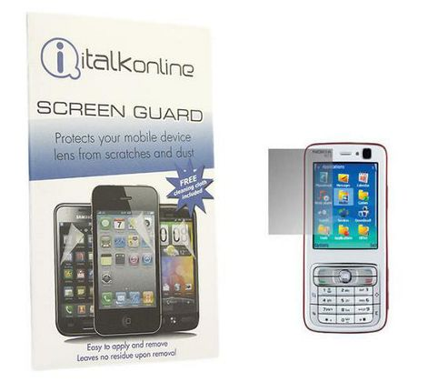iTALKonline S-Protect LCD Screen Protector and Micro Fibre Cleaning Cloth - For  Nokia N73