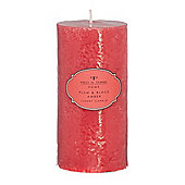Pied A Terre Plum & Black Amber Pillar Candle New
