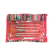 Royal Girls On The Go 5 Piece Cosmetic Brush Set With Make-Up Bag