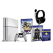 PS4 (White) With BloodBorne, Little Big Planet 3, GP3 Headset, PSPlus (3Mth)