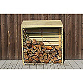 FSC Slow Growing Pine Pressure Treated Log Store 120cm
