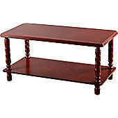 Home Essence Jersey Coffee Table in Mahogany Finish