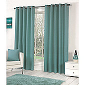 Fusion Sorbonne Eyelet Lined Curtains Teal - 66x90