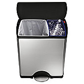 Simplehuman 46L Recycle Bin Brushed Finish