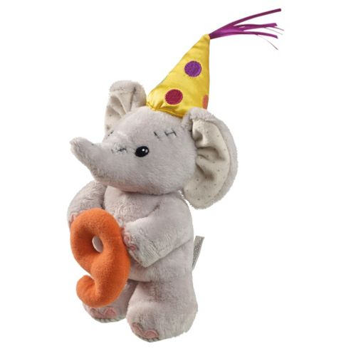 9th Birthday Elephant Soft Toy