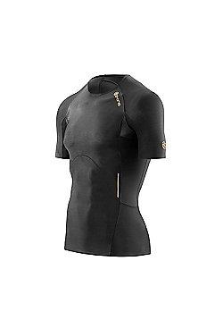 Skins A400 Compression Mens Short Sleeve Top - Black