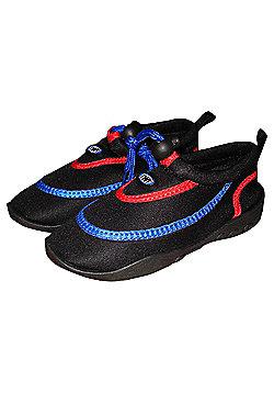 TWF Wetshoes Black/Red/Blue UK size 11/ EU 30
