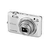 Nikon Coolpix S6800 Camera White 16.0MP 12xZoom 3.0LCD FHD 25mm Wide Lens