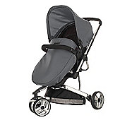 Obaby Chase 3 Wheeler Pramette Travel System, Black & Grey