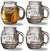 Circleware Family Recipe Small Barrel Glasses, Set of 4