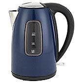 Tesco Stainless Steel Jug kettle, 1.7L - Blue