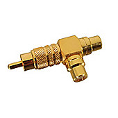 Gold-Plated Phono T Adaptor