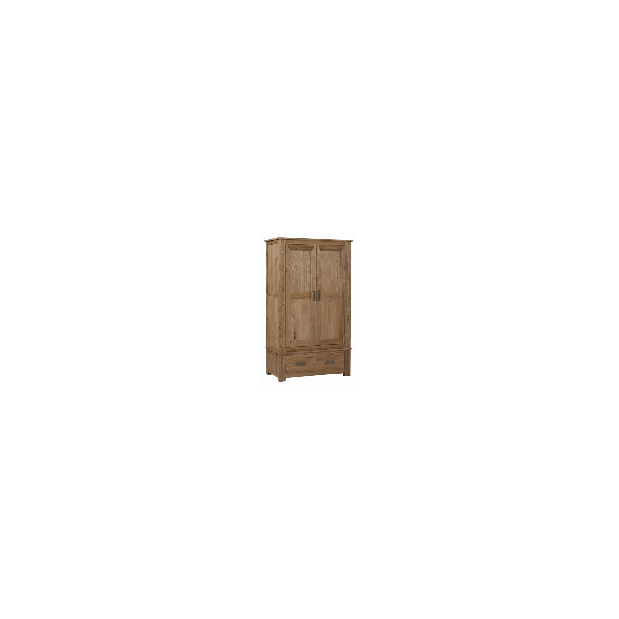 Kelburn Furniture Lyon Gents Wardrobe in Light Oak Matt Lacquer at Tesco Direct