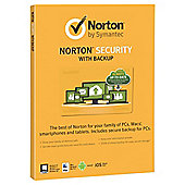 NORTON SECURITY WITH BACKUP 2.0 25GB 1 USER 10 DEVICES CARD