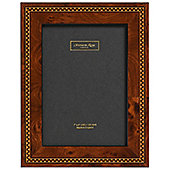 Addison Ross Marquetry Photo Frame with Brown Check Fibre Back - 4 in x 6 in