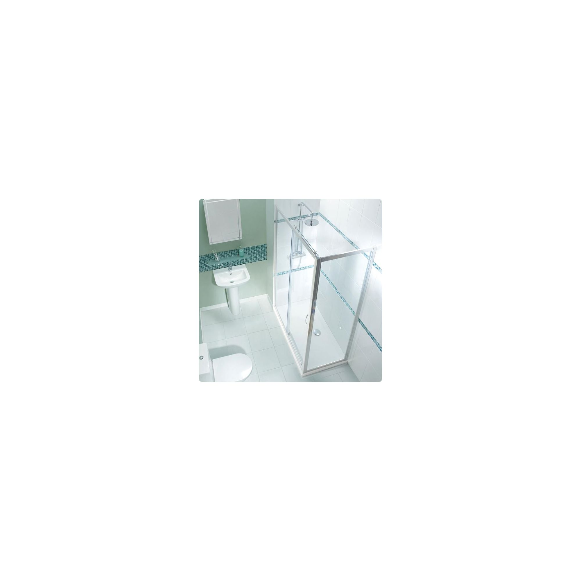 Balterley Framed Sliding Shower Enclosure, 1000mm x 760mm, Low Profile Tray, 6mm Glass at Tesco Direct