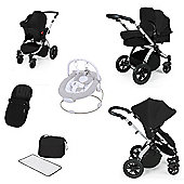 ickle bubba Stomp V2 All in One Travel System - Black (Silver Chassis)