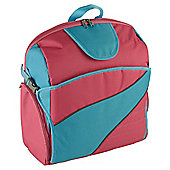 SitNSee - Stadium Booster Seat/Back Pack - Turquoise Blue/Bright Pink