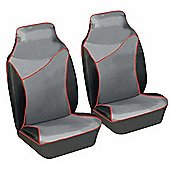 Autocare Grey/Red Front Seat Protectors