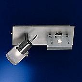Paul Neuhaus Centura Two Light Wall Light in Steel