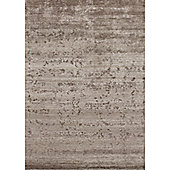 Angelo Silky Coffee Knotted Rug - 240cm H x 170cm W (7 ft 10.5 in x 5 ft 7 in)