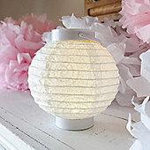 Small White Battery LED Paper Lantern Light