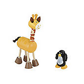 Rosebud Village Giraffe and Penguin Set