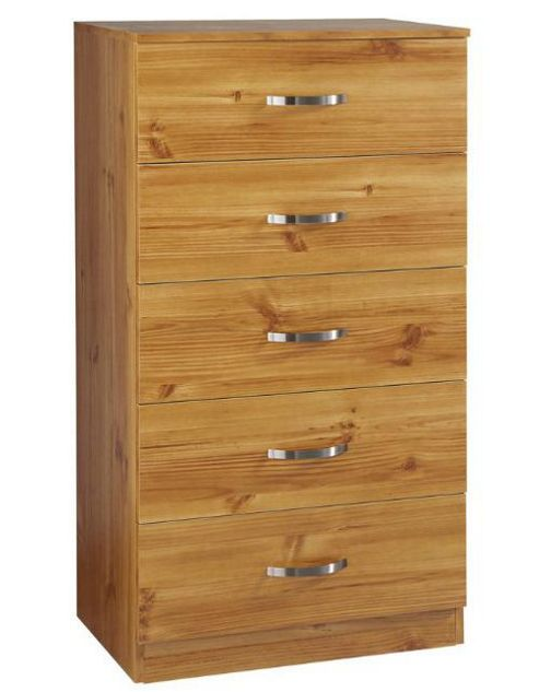 Urbane Designs Panama 5 Drawer Chest - New Oak