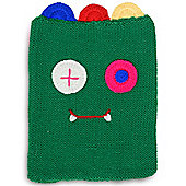 Quirky Character Knitted iPad Cover - Green Monster