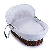 Clair de Lune Dark Wicker Moses Basket (Vintage)