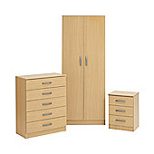 Ideal Furniture Budapest Bedroom Collection - Oak