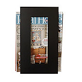 The Metal House Contemporary Magazine Rack - Black