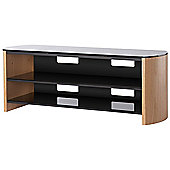 Light Oak Real Wood Veneer TV Stand for screens up to 60 inch